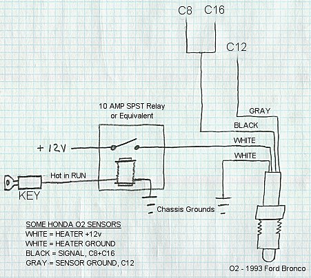 O2sensor b16 4 wire o2 sensor wiring diagram honda at bayanpartner.co
